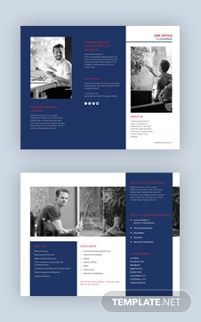 Office Cleaning Brochure Template