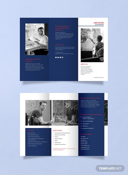 office cleaning brochure template 440