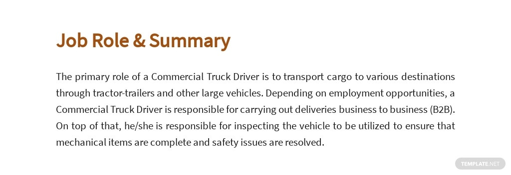 Free Commercial Truck Driver Job Ads and Description Template 2.jpe