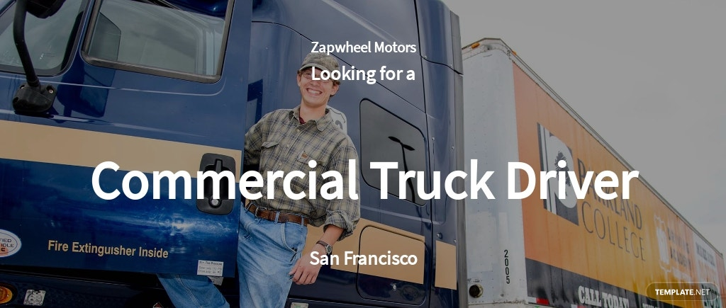 Free Commercial Truck Driver Job Ads and Description Template.jpe