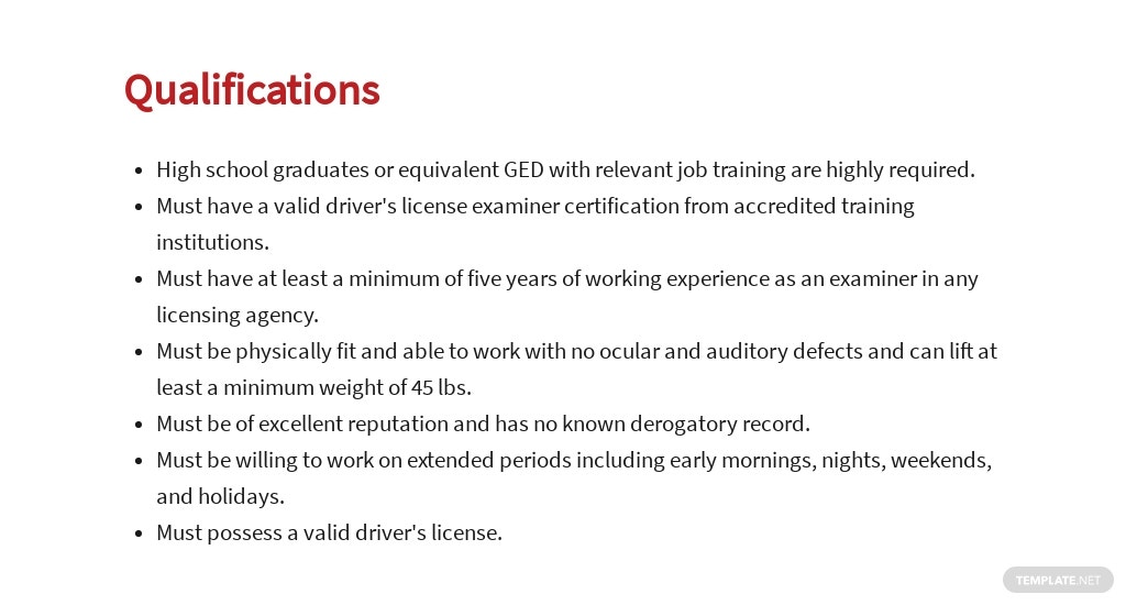 Free Drivers License Examiner Job Ads and Description Template 5.jpe