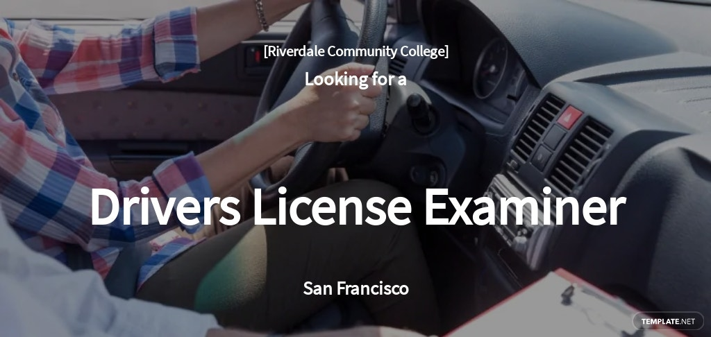 Free Drivers License Examiner Job Ads and Description Template.jpe