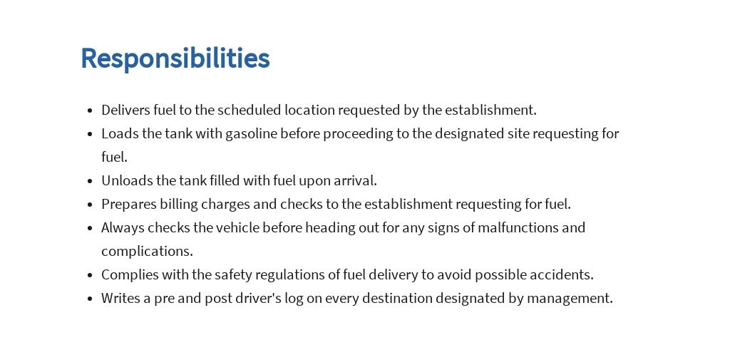 Free Fuel Driver Job Ads and Description Template 3.jpe