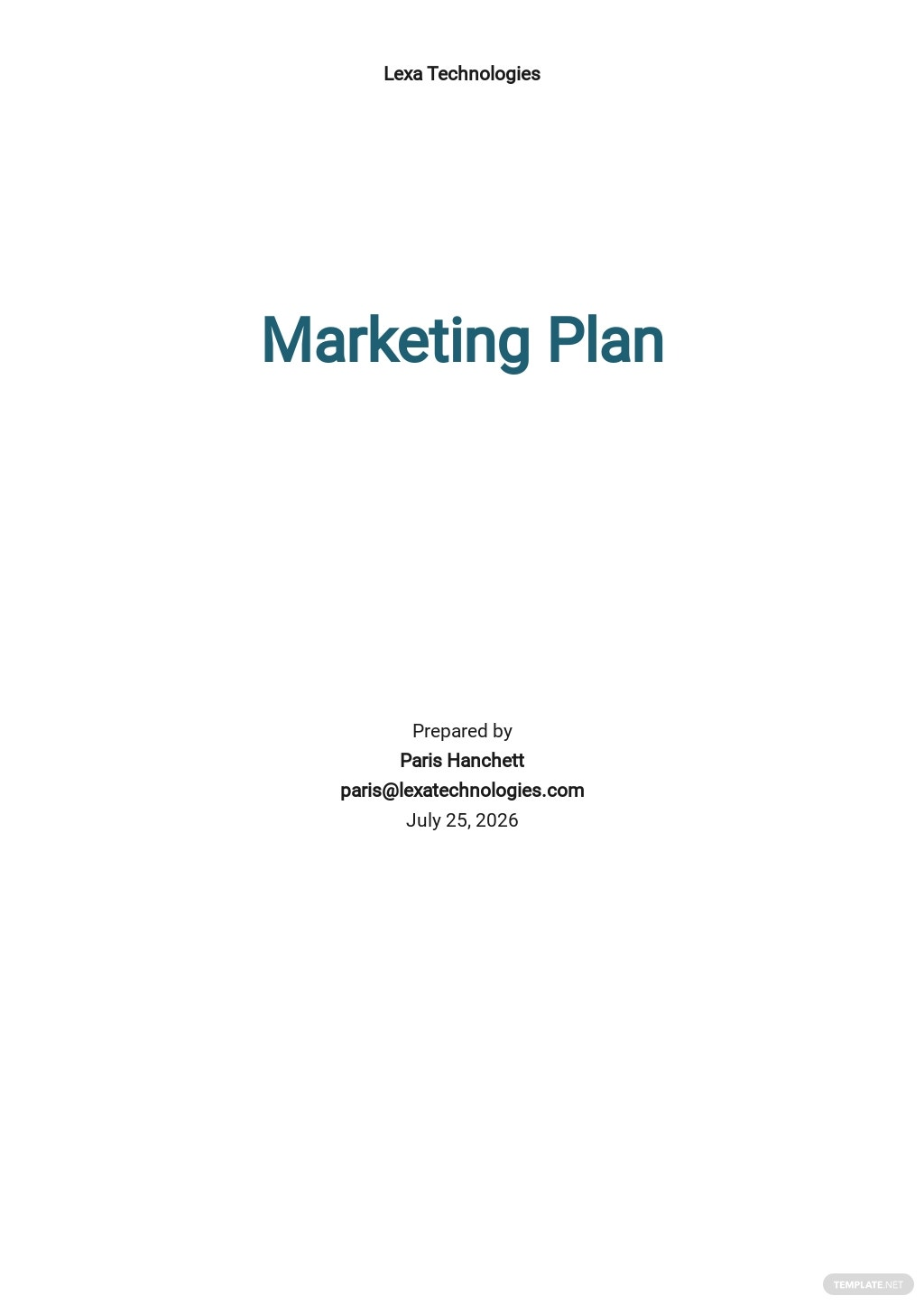 IT Product Marketing Plan Template