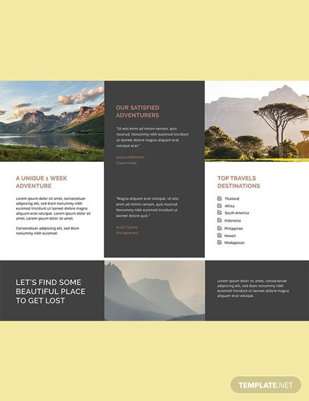 Free Travel Agency Brochure Template Download 356 Brochures In Psd