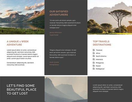 travel agency brochure template download 151 brochures in psd
