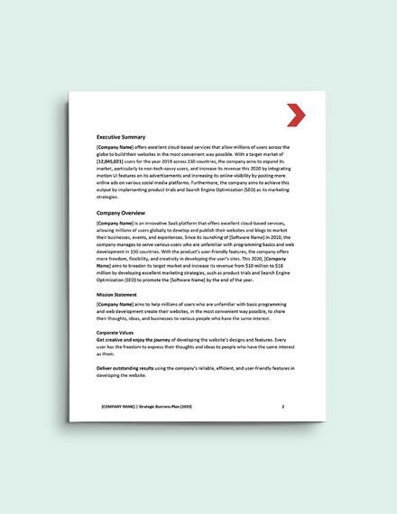 SaaS Marketing Strategy format