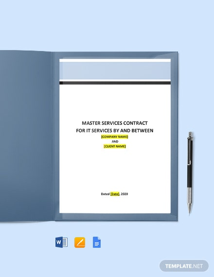 Master Services Contract for IT Services Template