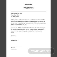 Virus Notice Template