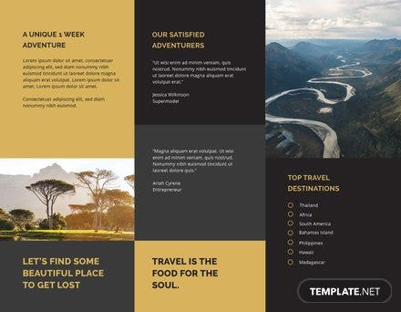 tri fold travel brochure template tri fold travel brochure template