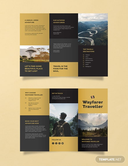 Free Tri fold Travel Brochure Template