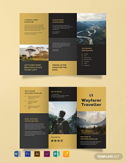 Free Tri-Fold Travel Brochure Template