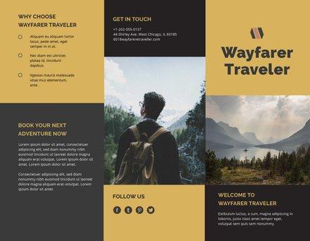 Tri fold Travel Brochure Template