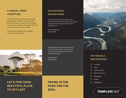 tri fold travel brochure template download 151 brochures in psd