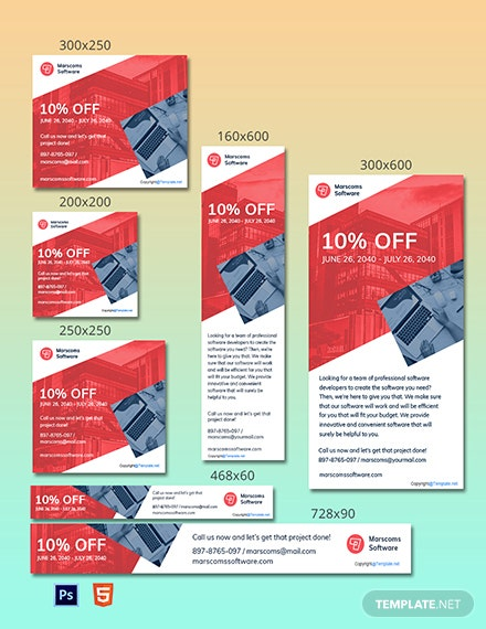 Free Creative Software AD Template