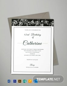 Free Formal Event Invitation Template