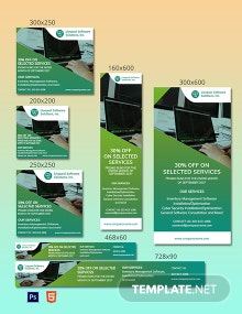 Software Solutions Ad Template