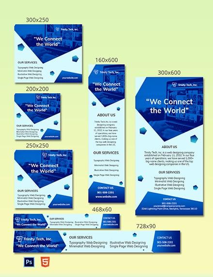Tech Web Ad Template