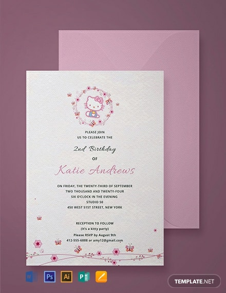 free hello kitty party invitation template