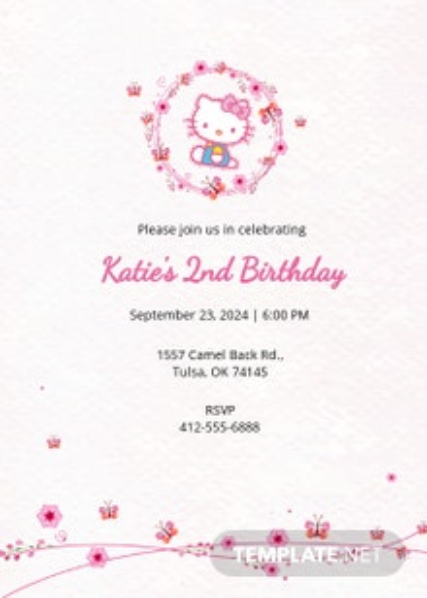 Free Hello Kitty Party Invitation Template