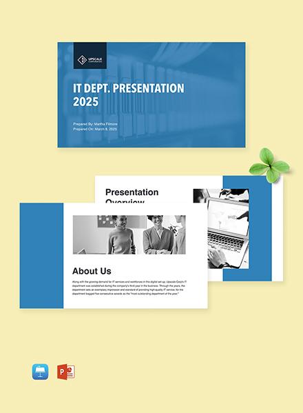 Free IT Department Presentation Template