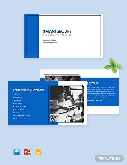 Free IT Security Presentation Template