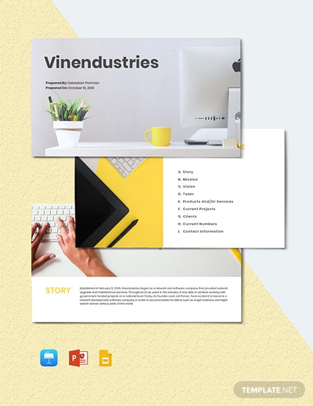 Free Sample IT Presentation Template