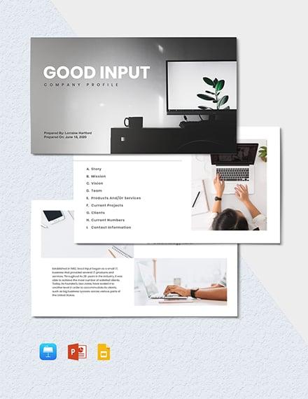 IT Project Presentation Template