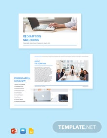 Software Product Presentation Template