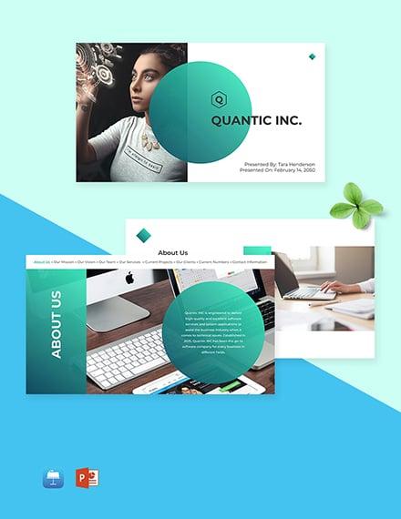 Software Company Presentation Template