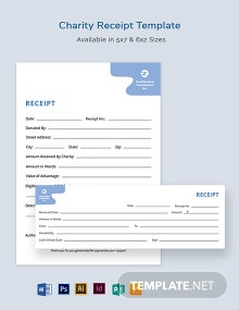 Charity Receipt Template