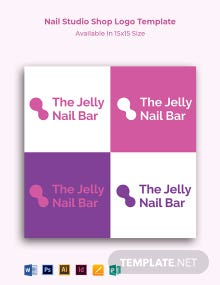 Nail Studio Shop Logo Template