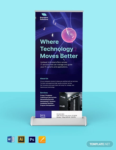 Simple IT Roll Up Banner Template