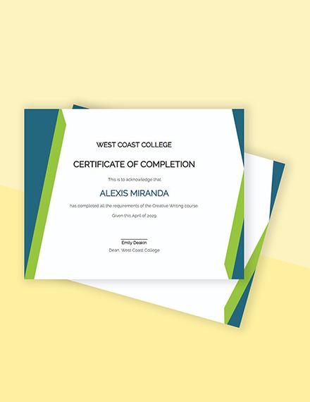 Free Sample Diploma Certificate Template