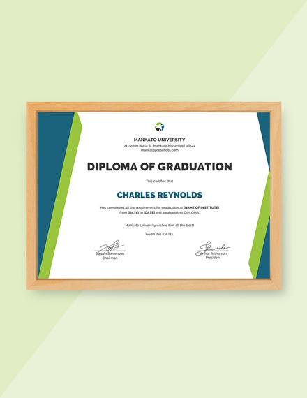 Free Sample Diploma Certificate Template Download 380 Certificates