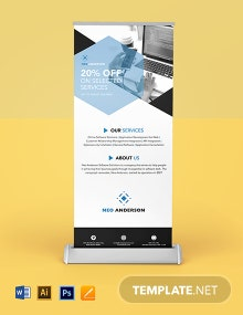 Software Solutions Roll Up Banner Template