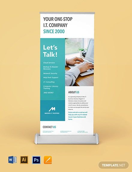 IT Company Roll Up Banner Template