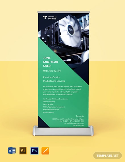 Software Advertising Roll Up Banner Template