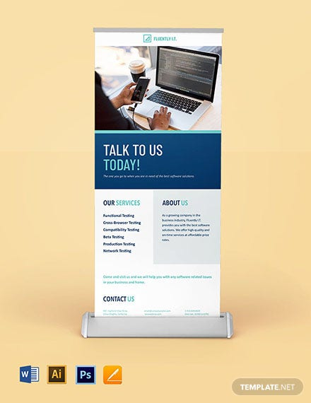 Software Company Roll Up Banner Template