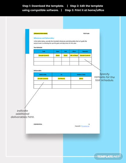 Free Recovery Tests Template download