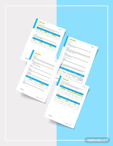 Free Recovery Tests Template sample