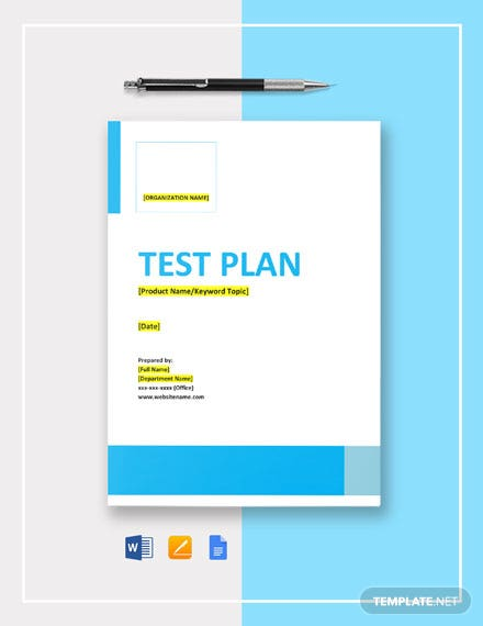 Free Recovery Tests Template