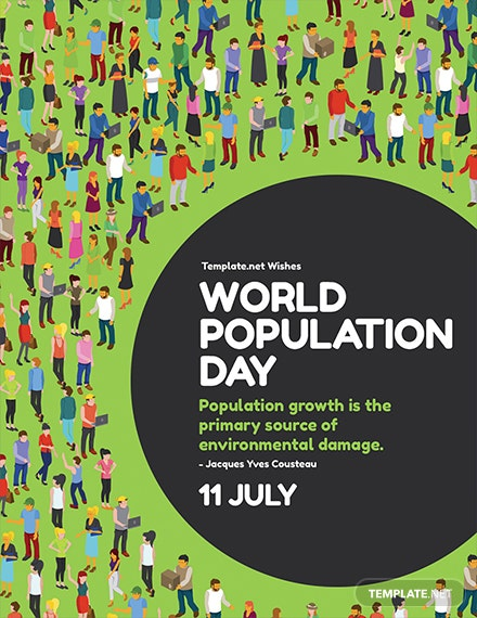 World Population Day Greeting Card Template