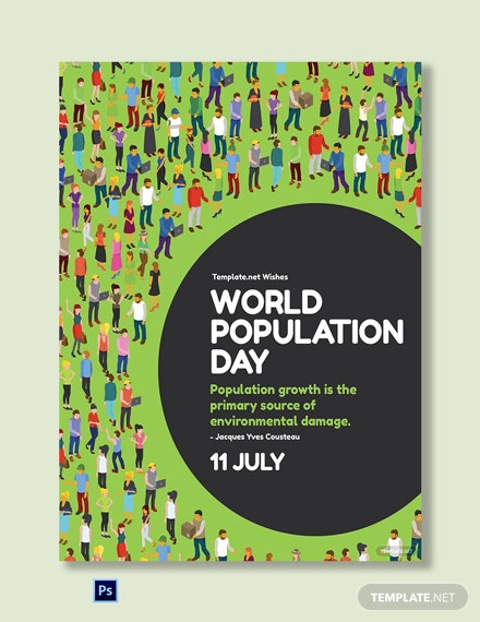 Free World Population Day Greeting Card Template