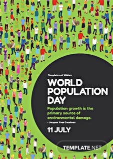 Free templates world population day greeting card template yelopaper Image collections