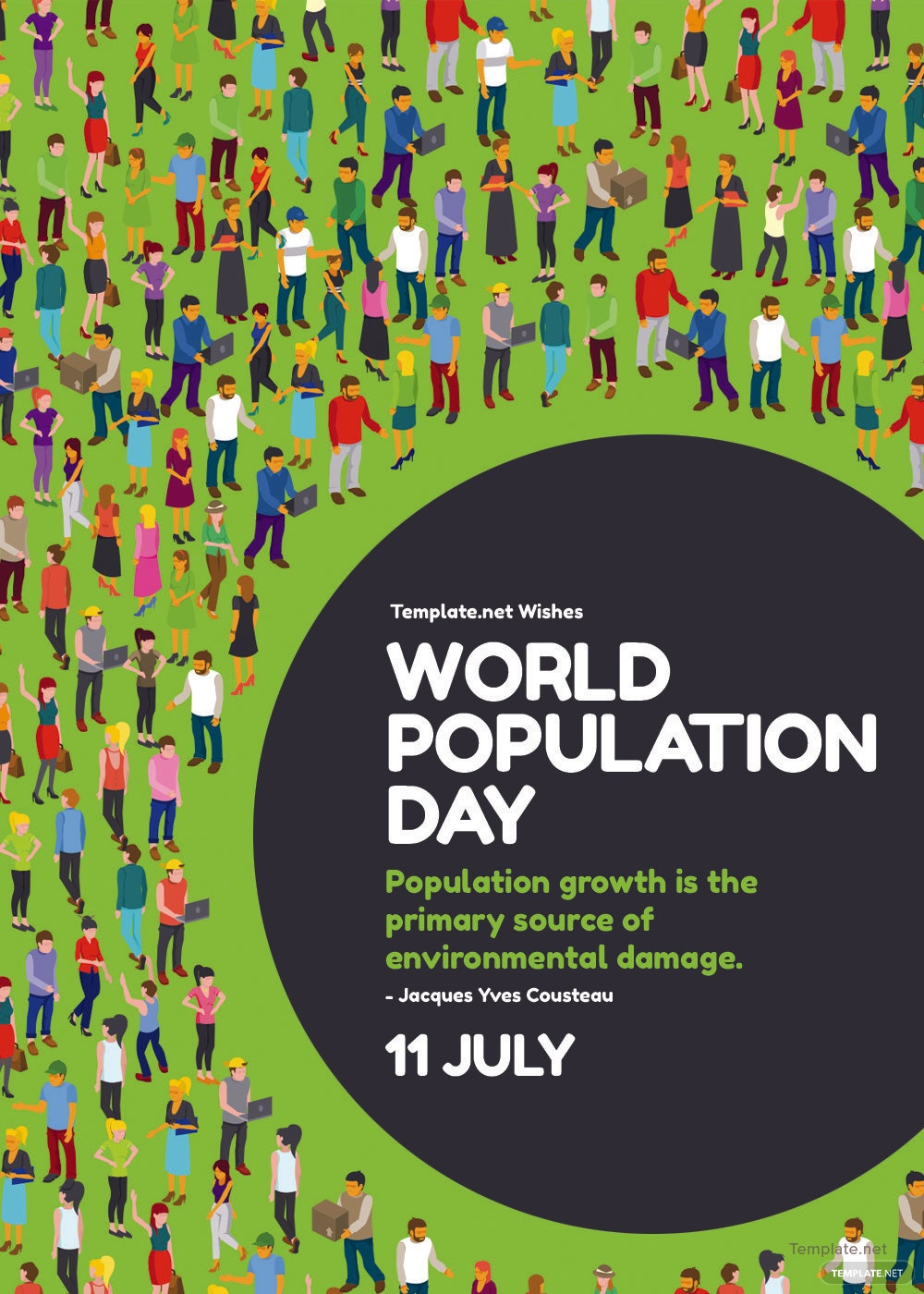 world population day greeting card
