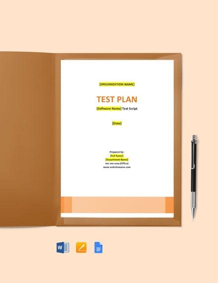 Test Script Template