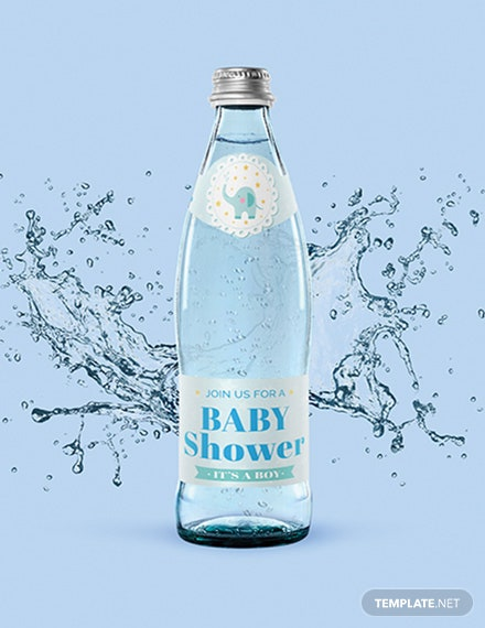Free Baby Shower Bottle Label Template
