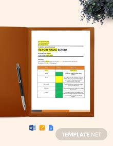IT Service Delivery Status Report Template