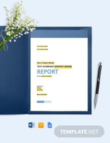 Report - Test Summary Template